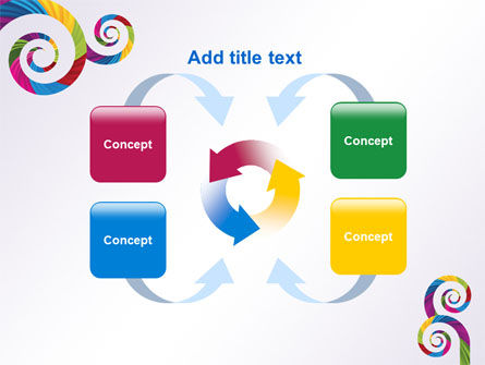 Color Curls PowerPoint Template Slide 6