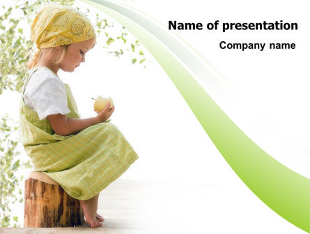 Little Girl PowerPoint Template, 07818, People — PoweredTemplate.com