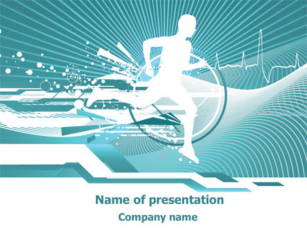 Medical: Run For Health PowerPoint Template #07821