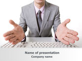 Consulting: Open Hands PowerPoint Template #07822