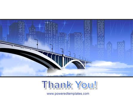 Free City Bridge PowerPoint Template Slide 20