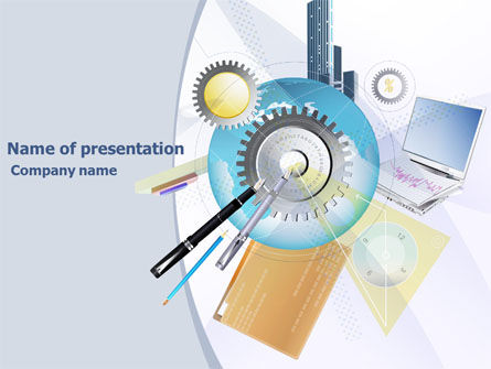 Business: Work Technology PowerPoint Template #07824