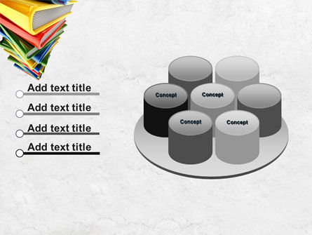 Pile of Books PowerPoint Template Slide 12