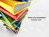 Education & Training: Pile of Books PowerPoint Template #07825