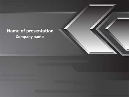 Business Concepts: Metal Arrow Abstract PowerPoint Template #07826