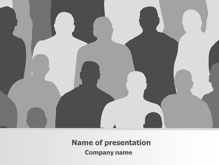 People: Abstract People PowerPoint Template #07828
