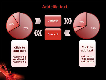 Red Abstract PowerPoint Template Slide 11