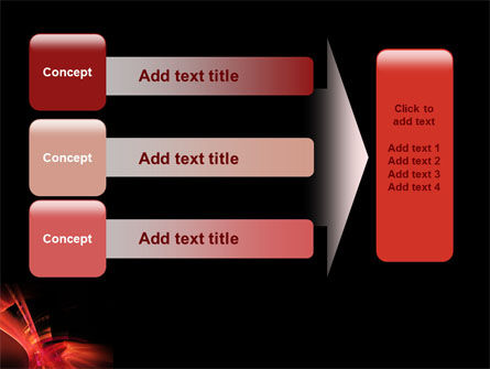 Red Abstract PowerPoint Template Slide 12