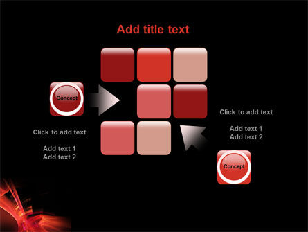 Red Abstract PowerPoint Template Slide 16