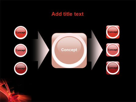 Red Abstract PowerPoint Template Slide 17