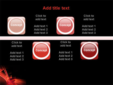 Red Abstract PowerPoint Template Slide 19