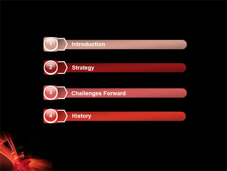 Red Abstract PowerPoint Template Slide 3