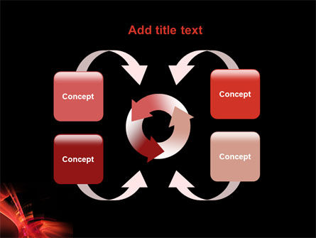 Red Abstract PowerPoint Template Slide 6