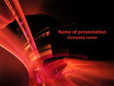 Abstract/Textures: Red Abstract PowerPoint Template #07829