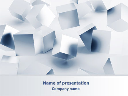 Abstract/Textures: 3D Cubes PowerPoint Template #07830