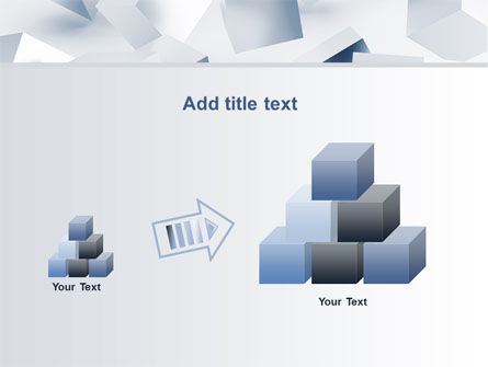 3D Cubes PowerPoint Template Slide 13