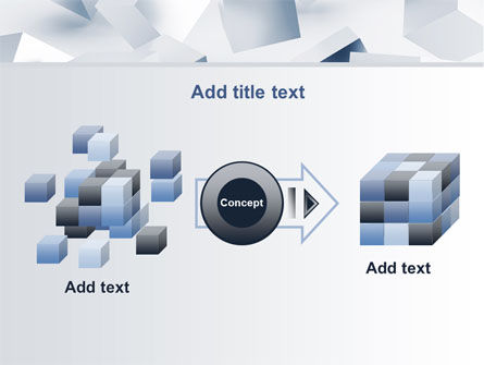 3D Cubes PowerPoint Template Slide 17