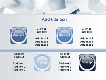 3D Cubes PowerPoint Template Slide 18
