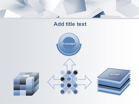 3D Cubes PowerPoint Template Slide 19