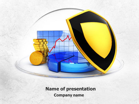 Financial/Accounting: Savings Protection PowerPoint Template #07832