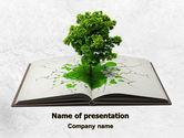 Education & Training: Baum des wissens PowerPoint Vorlage #07833