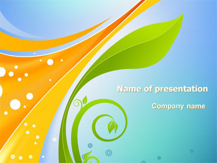 Abstract/Textures: Growing Leaf Motif PowerPoint Template #07835