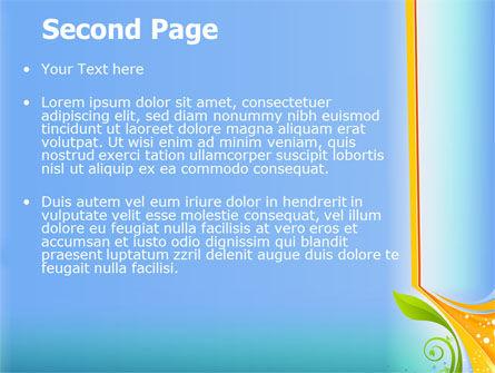 Growing Leaf Motif PowerPoint Template Slide 2