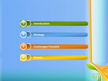 Growing Leaf Motif PowerPoint Template Slide 3