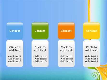 Growing Leaf Motif PowerPoint Template Slide 5