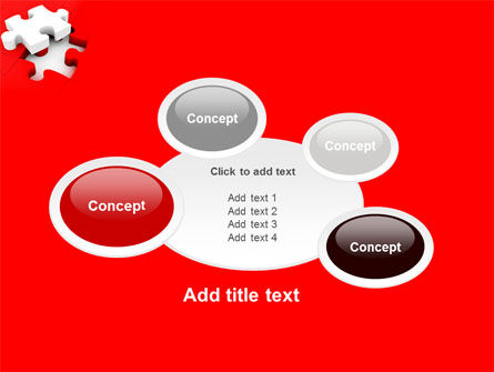 White Jigsaw on Red PowerPoint Template Slide 16