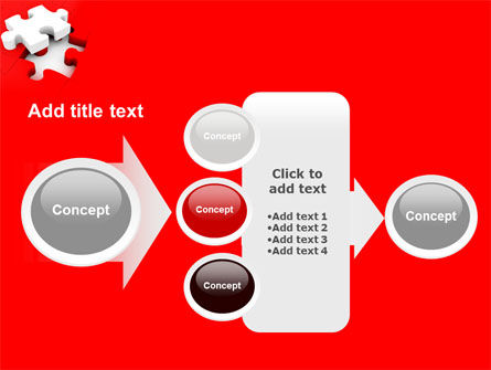 White Jigsaw on Red PowerPoint Template Slide 17