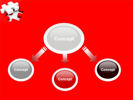 White Jigsaw on Red PowerPoint Template Slide 4