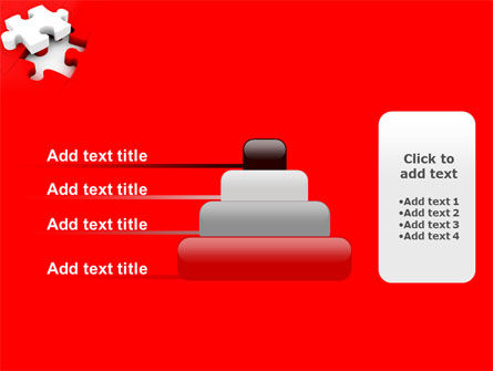 White Jigsaw on Red PowerPoint Template Slide 8