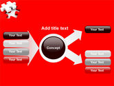 White Jigsaw on Red PowerPoint Template#14