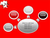 White Jigsaw on Red PowerPoint Template#7
