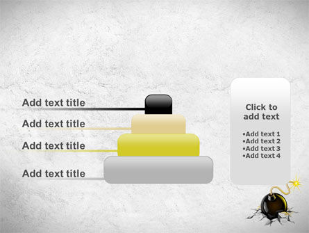 Bomb With Burning Wick On Crashed Ground PowerPoint Template Slide 8