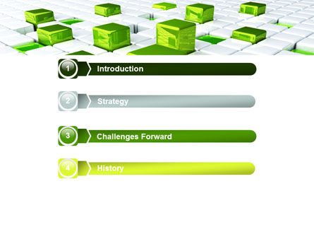 Green Graphs PowerPoint Template, Slide 3, 07839, Technology and Science — PoweredTemplate.com