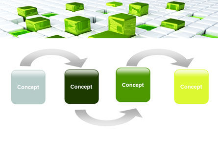 Green Graphs PowerPoint Template, Slide 4, 07839, Technology and Science — PoweredTemplate.com