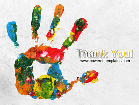 Colorful Hand Print PowerPoint Template Slide 20