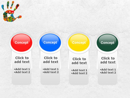 Colorful Hand Print PowerPoint Template Slide 5