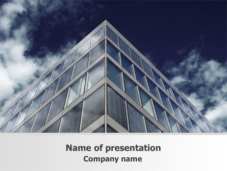 Concrete and Glass PowerPoint Template, 07844, Business — PoweredTemplate.com