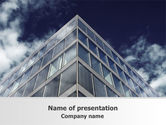 Business: Concrete and Glass PowerPoint Template #07844