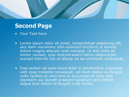 Abstract Threads PowerPoint Template Slide 2