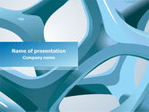 Abstract/Textures: Abstract Threads PowerPoint Template #07845