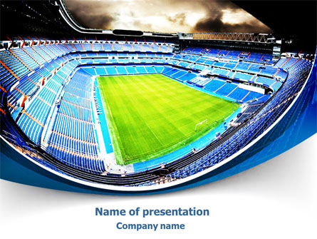 Stadium At Night PowerPoint Template, 07846, Careers/Industry — PoweredTemplate.com