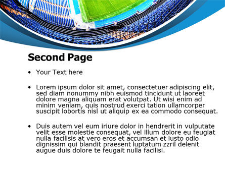 Stadium At Night PowerPoint Template Slide 2