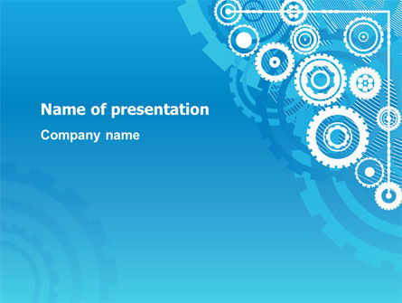 Pinion Blue Theme PowerPoint Template