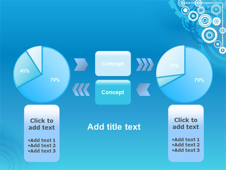 Pinion Blue Theme PowerPoint Template Slide 11