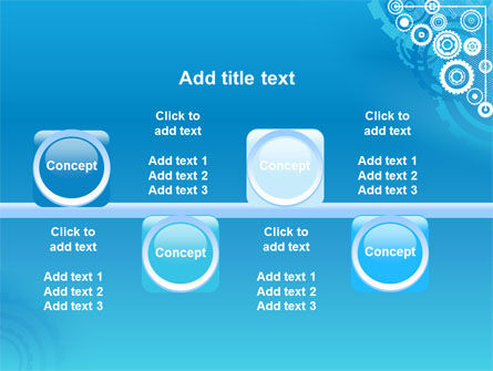 Pinion Blue Theme PowerPoint Template Slide 19