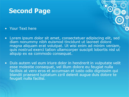 Pinion Blue Theme PowerPoint Template Slide 2
